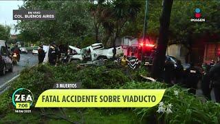 Aparatoso choque deja cuatro muertos en Viaducto Miguel Alemán | Noticias con Francisco Zea