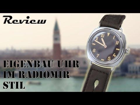 Panerai Radiomir vintage Stil   Uhr selber bauen   Taschenuhr Umbau   DIY Uhrenbauer   deutsch