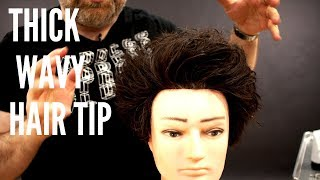 Thick Wavy Hair Tips - TheSalonGuy