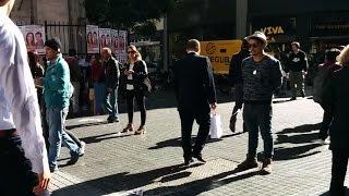 "Black market moneychangers (""cambio"") in Buenos Aires, Argentina"