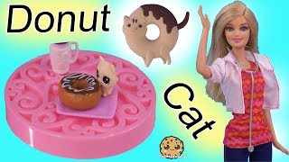 Donut Cat Goes to Animal Doctor ! VET Story Barbie Doll Play Video