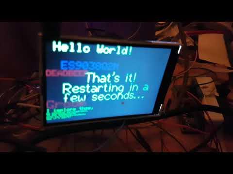 ESP32 480x320 3 5 RPi 3 5inch LCD test - смотреть онлайн на