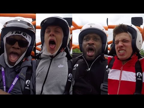CRAZY SPEED! The Stig Drives ComedyShortsGamer Caspar Lee Bizzle & JMX | Top Gear
