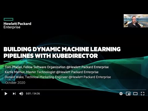 Building dynamic machine learning pipelines with KubeDirector