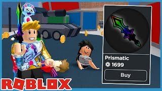 Buying The Prismatic Sword And Found A Hacker In Roblox Murder Mystery 2