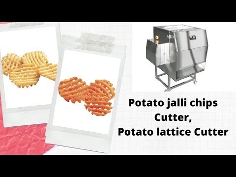 Potato Kriss Cross Chips Machine