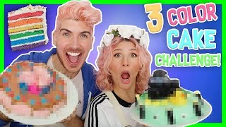 3 COLOR CAKE DECORATING CHALLENGE! W/ MR. KATE - Video Youtube