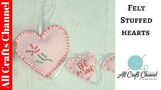 Easy Felt Heart Mobile For Valentines Day