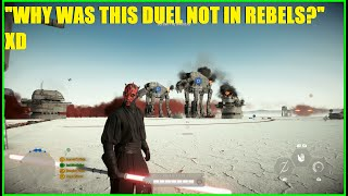 Star Wars Battlefront 2 - This IS the Obi / Maul Duel EVERYBODY wanted to see! XD Darth Maul streak!