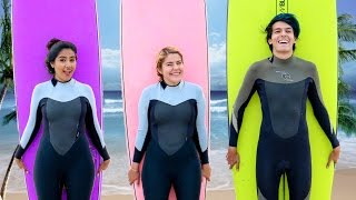 SURFING FOR THE FIRST TIME| LOS POLINESIOS VLOGS