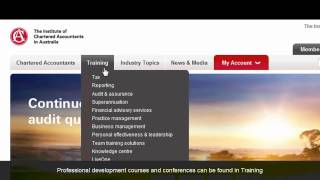 Chartered Accountants website tour