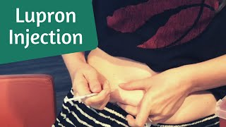 Lupron Injection for Frozen Embryo Transfer (How To)