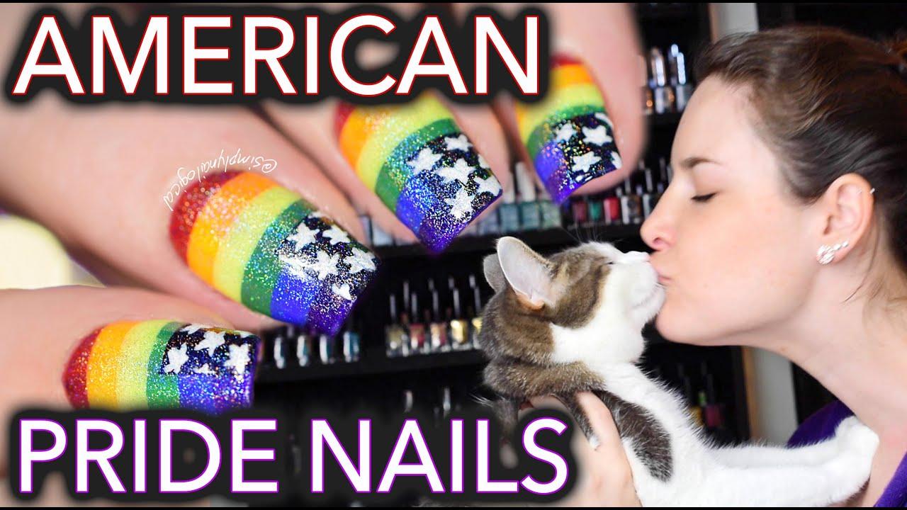 American pride nails & MY GAY KITTEN thumbnail