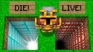 Minecraft DON'T JUMP IN THE WRONG HOLE !! SURVIVE BY DOING WHAT IS WRONG !! Minecraft Mods