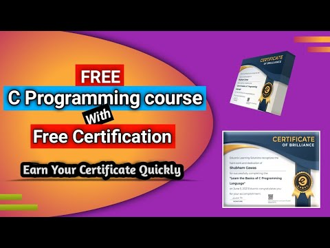 C Programming Free Certificate  Course  | Free Certificate Course Online 2021 | Free Certification