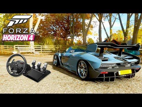 Forza Horizon 4 - Mclaren Senna Top Speed Run  (Steering