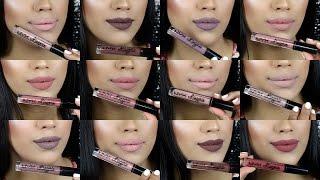 Muestras De Nuevos labiales mates de NYX Cosmetics Lingerie Matte Liquid Lipsticks