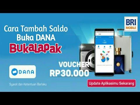 Cara Isi Saldo Dana Bukalapak | BRI Mobile Banking