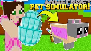 Minecraft: PET SIMULATOR!!! (GET PET EGGS WITH EPIC PETS!) Modded Mini-Game