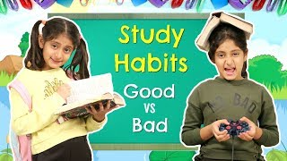 STUDY HABITS - Good Kid vs Bad Kid | #Roleplay #Fun #Sketch #MoralValues #MyMissAnand