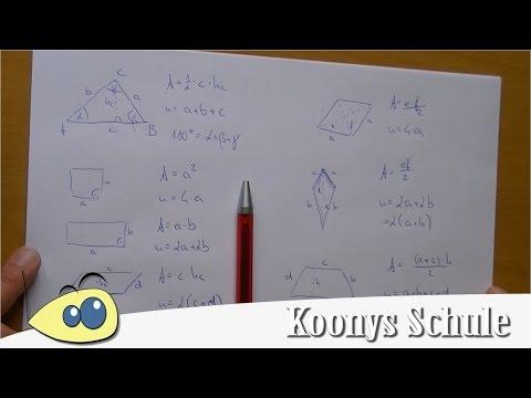 Flächeninhalt, Umfang, Dreieck, Raute, Trapez, Vierecke | MSA Crashkurs 6/8 - Mathe Überblick