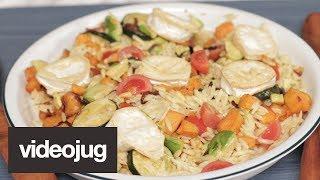 Rainbow Orzo Pasta Salad I Tasty Tenner