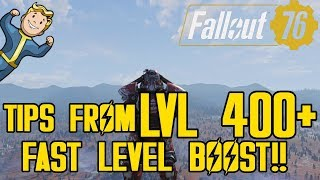 FALLOUT 76 - HOW TO LEVEL UP FAST! | BEST WAY TO LEVEL UP! | TIPS FROM LEVEL 400+!