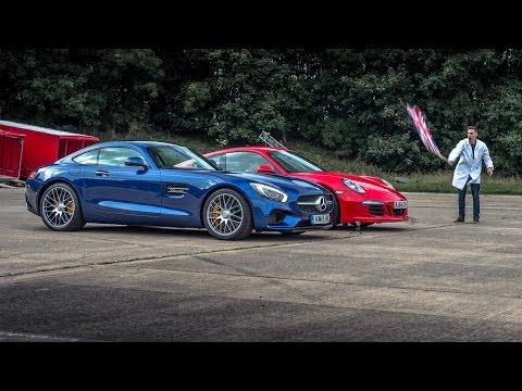 Mercedes AMG GTS vs Porsche 911 Carrera GTS   Drag Races   Top Gear