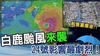 白鹿颱風週五發海陸警 估週六花東一帶登陸