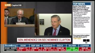 Menendez on Jay Clayton SEC Nomination