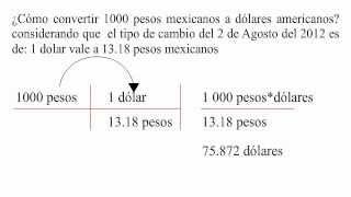 Cómo Convertir Pesos Mexicanos A Dólares Americanos