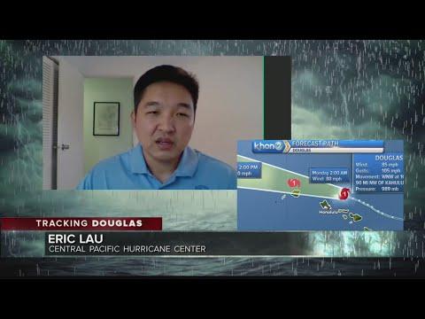 Hurricane Center dissects Sunday's 5 p.m. Hurricane Douglas forecast