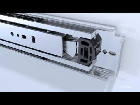 Come funziona il dispositivo di blocco della guida telescopica Accuride 9308