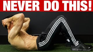 NEVER DO CRUNCHES LIKE THIS | 10 Most Common Mistakes!
