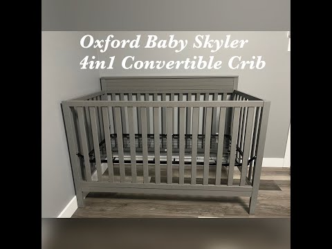 Oxford Baby Skyler 4in1 Convertible Crib (Dove Gray) | Assembly Video