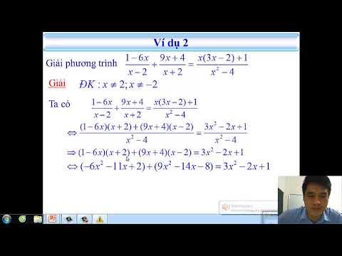 Toán 8: Luyện tập phương trình chứa ẩn ở mẫu
