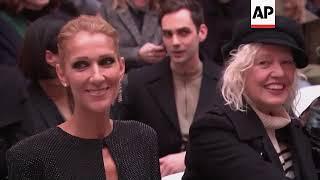 Celine Dion Sits Front Row At Alexandre Vauthier Fashion Show