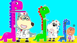 Wolf Family⭐️ Who is the Best Doctor - Doctor Cartoon
