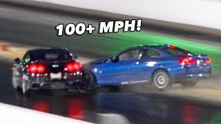 BMW SLAMS into GTR on the Dragstrip + MORE!