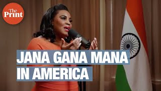 US singer Mary Millben sings national anthem 'Jana Gana Mana' on India's 74th Independence Day