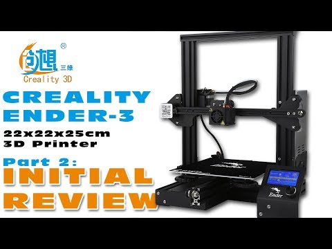 Short term review of the Creality Ender-3 3D-printer