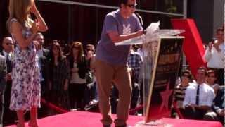 Adam Sandler hilarious speech at Jennifer Aniston Hollywood walk of fame ceremony