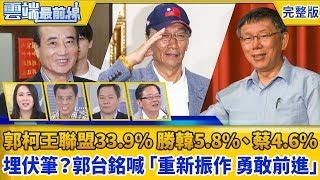 【雲端最前線】第662集 ET民調/「郭柯王」聯盟支持度33.9% 勝韓5.8%、蔡4.6% 為2020埋伏筆?郭台銘喊「重新振作 勇敢前進」