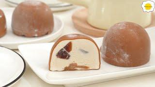 Milk Tea Ice Cream Snowball Mochi Daifuku 奶茶冰淇淋雪媚娘 Crème glacée au thé au lait Mochi boule de neige