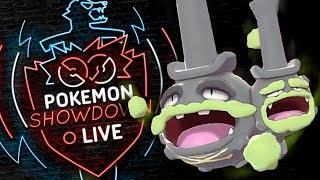 Enter GALARIAN WEEZING! Pokemon Sword and Shield! Galarian Weezing Pokemon Showdown Live!