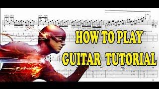CW's The Flash - Main Theme Guitar Lesson Tutorial