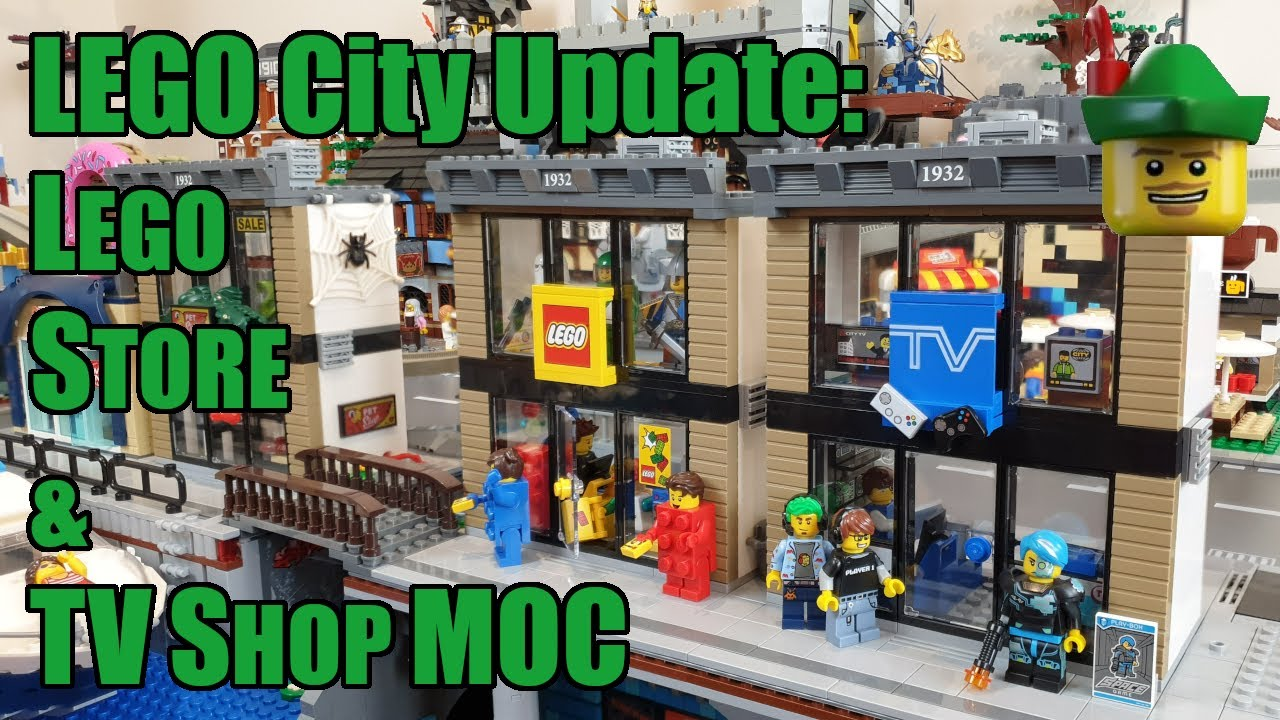 LEGO City Update - Lego Store & TV Shop MOC 60097 📺🏹