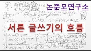 논준모연구소TV 서론글쓰기의 흐름