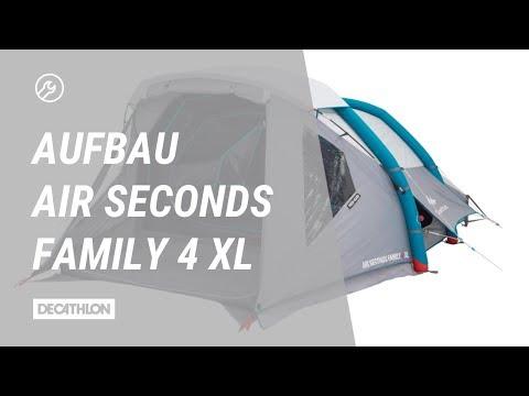 Zelt Air Seconds Fresh&Black Family 4 XL Aufbau | Anleitung