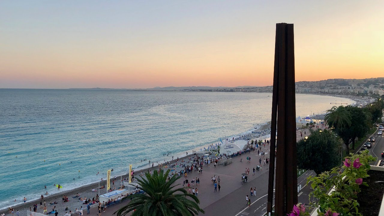 Webcam 4K en direct de la plage de Nice